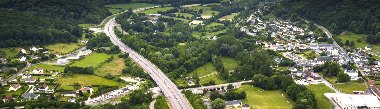 l'A13 du côté de Toutainville